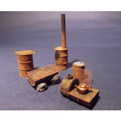 Improvised Drum Stoves WWII - 10 resin pcs. - Reality in Scale - RIS 35209