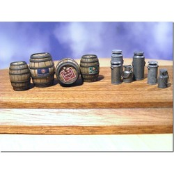 Beer Barrels & Milk Churns - 10pcs. Incl. decals - Reality in Scale - RIS 35150