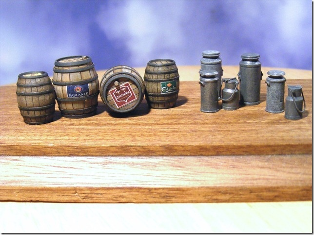 Reality in Scale Beer Barrels & Milk Churns - 10pcs. Incl. decals - Reality in Scale - RIS 35150