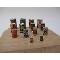Cans with labels - 14 cans with decals - Reality in Scale - RIS 35127