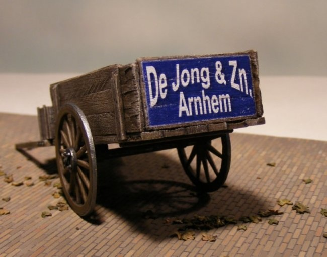 Reality in Scale Hand Cart incl. a decal, chain and copper eyelets - Reality in Scale - RIS 35098