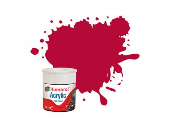 Humbrol Carmine Matt - Rail Color Paint - 14ml - Humbrol - HUL-2423