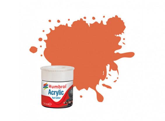 Humbrol Orange Lining Matt - Rail Color Paint - 14ml - Humbrol - HUL-2420
