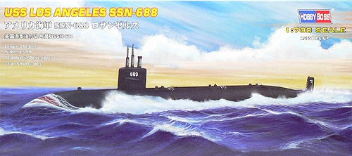 Hobbyboss Uss Navy Los Angeles Submarine Ssn-688  - Scale 1/700 - Hobbyboss - HOS87014