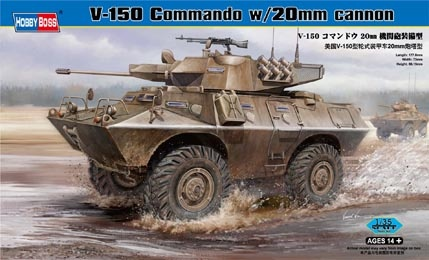 Hobbyboss V-150 Commando W/20Mm Cannon  - Scale 1/35 - Hobbyboss - HOS82420