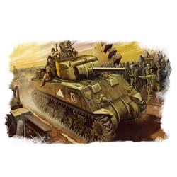 U.S M4  Tank (Mid -Model)  - Scale 1/48 - Hobbyboss - HOS84802