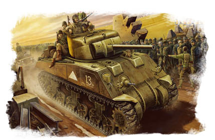 Hobbyboss U.S M4  Tank (Mid -Model)  - Scale 1/48 - Hobbyboss - HOS84802