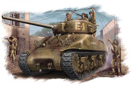 Hobbyboss U.S M4A1 76(W) Tank  - Scale 1/48 - Hobbyboss - HOS84801