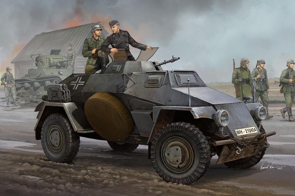 Hobbyboss German Sd.Kfz.221 Leichter Panzerspahwagen - Scale 1/35 - Hobbyboss - HOS83812