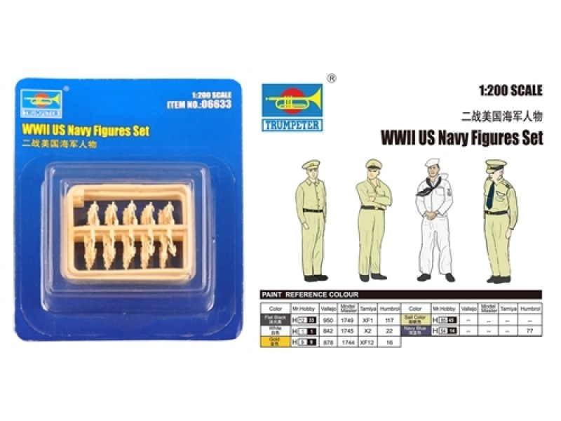 Trumpeter WWII Us Navy Figures Set  - Scale 1/200 - Trumpeter - TRR 6633