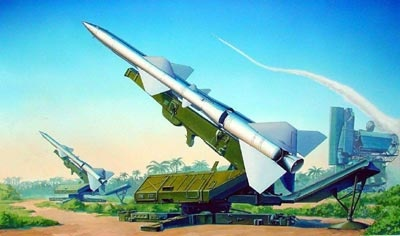 Trumpeter Sa-2 Guideline Missile W/Launcher Cabin  - Scale 1/35 - Trumpeter - TRR 206