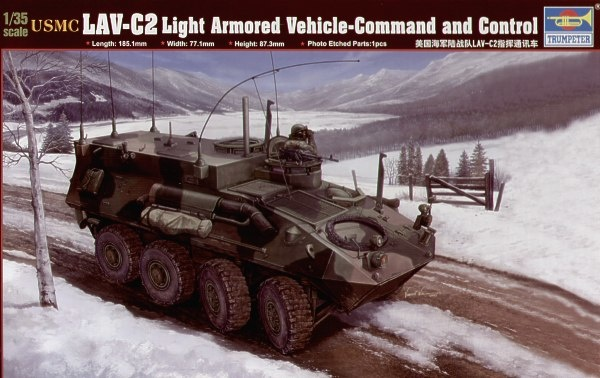 Trumpeter Usmc Lav-C2 Command & Control Vehicle - Scale 1/35 - Trumpeter - TRR 371