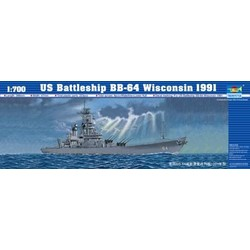 Uss Wisconsin Bb-64 1991  - Scale 1/700 - Trumpeter - TRR 5706