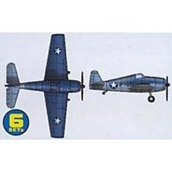 Grumman F6F Hellcat  - Scale 1/350 - Trumpeter - TRR 6210