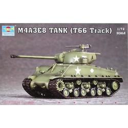 M4A3E8 Tank (T66 Track)  - Scale 1/72 - Trumpeter - TRR 7225
