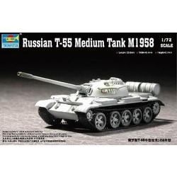 Russian T-55 Medium Tank M1958  - Scale 1/72 - Trumpeter - TRR 7282