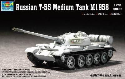 Trumpeter Russian T-55 Medium Tank M1958  - Scale 1/72 - Trumpeter - TRR 7282