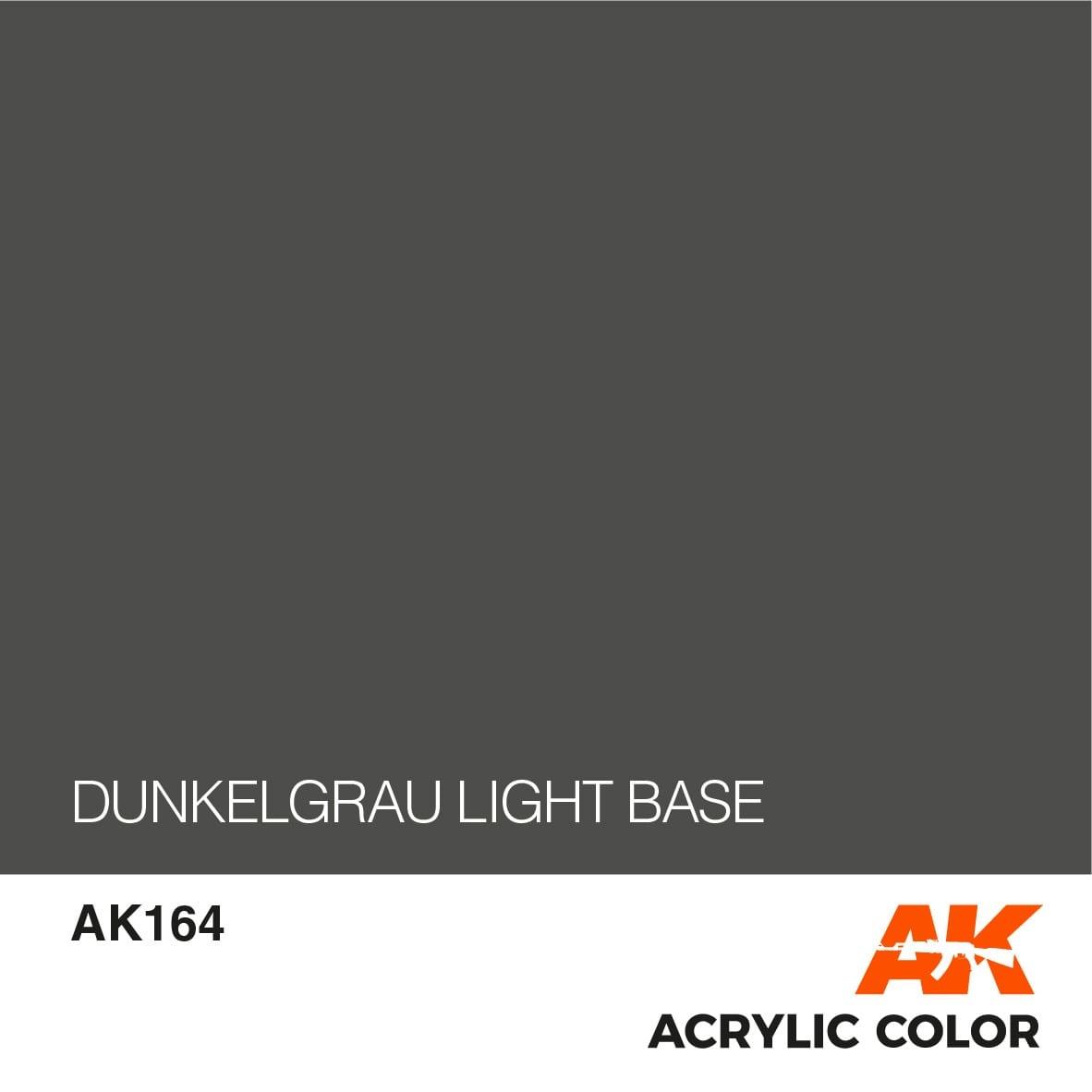 AK-Interactive Dunkelgrau Light Base - 17ml - AK-Interactive - AK-164