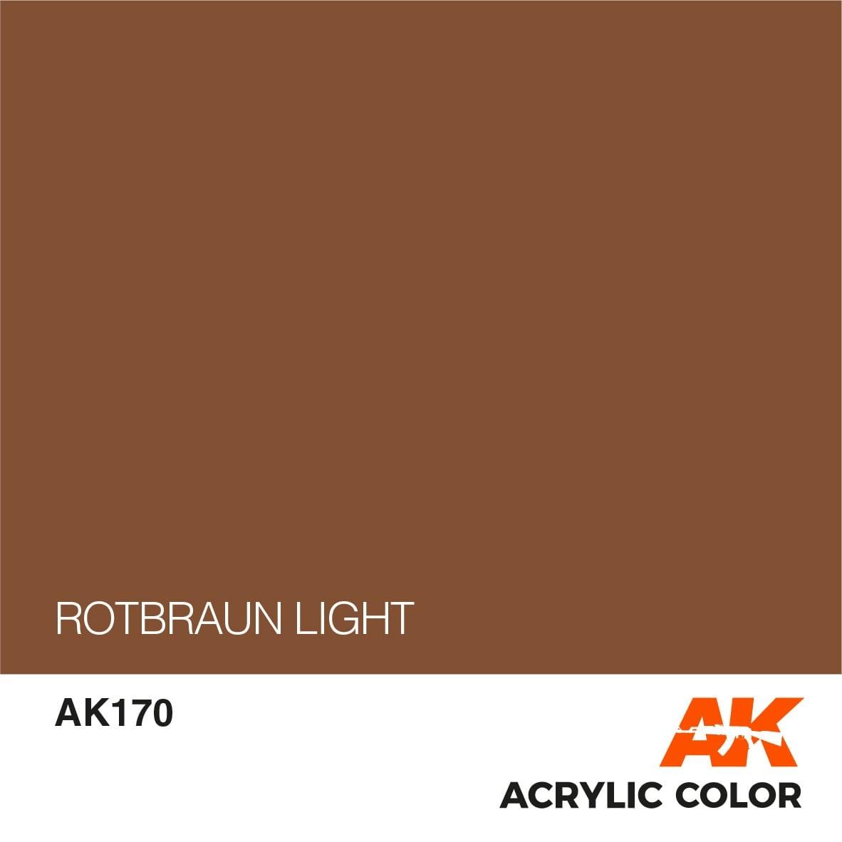AK-Interactive Rotbraun Light - 17ml - AK-Interactive - AK-170