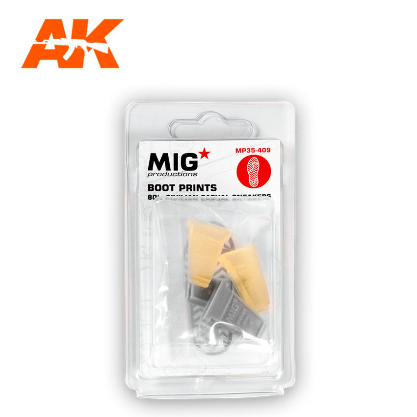 Mig Productions Boot Prints  80'S Civilian Casual Sneakers - Scale 1/35 - Mig Productions - MP35-409