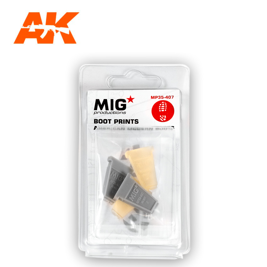Mig Productions Boot Prints  American Modern Boots - Scale 1/35 - Mig Productions - MP35-407