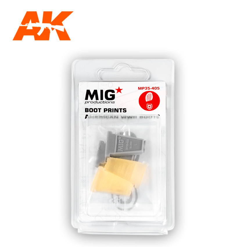 Mig Productions Boot Prints  American WWII Boots - Scale 1/35 - Mig Productions - MP35-405