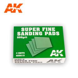Super Fine Sanding Pads 800 Grit.4 Units - AK-Interactive - AK-9019