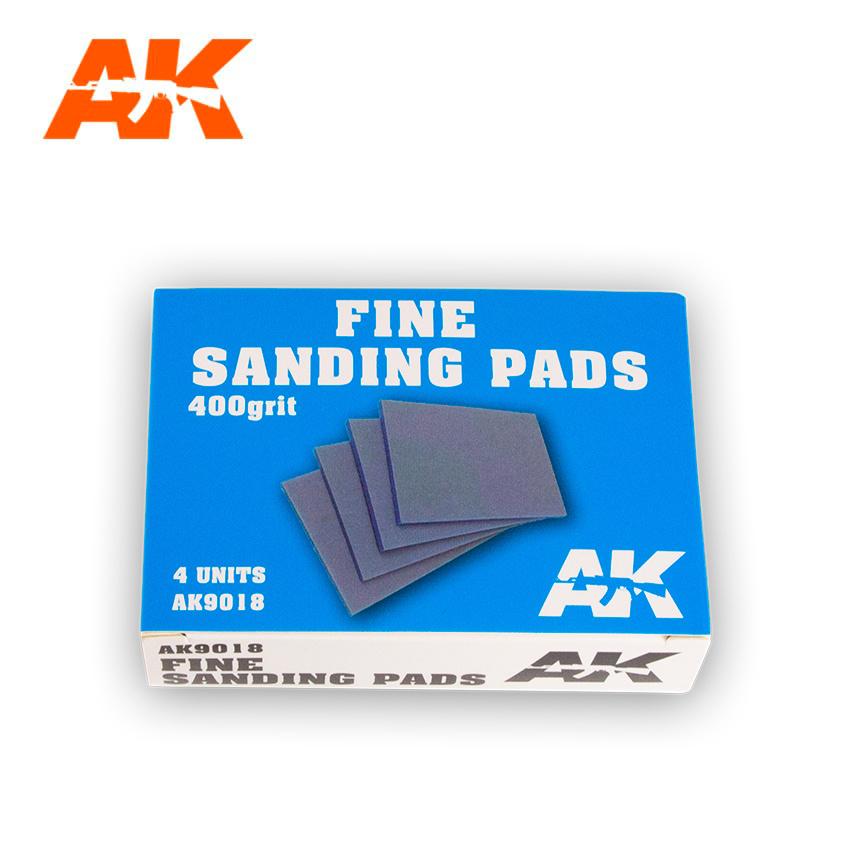 AK-Interactive Fine Sanding Pads 400 Grit. 4 Units  - AK-Interactive - AK-9018