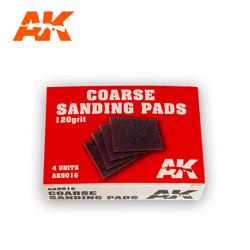 Coarse Sanding Pads 120 Grit.4 Units - AK-Interactive - AK-9016