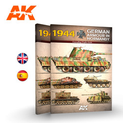 1944 German Armour In Normandy  Camouflage Profile Guide English - AK-Interactive - AK-916