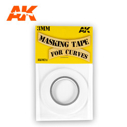 Masking Tape For Curves 3mm - AK-Interactive - AK-9124