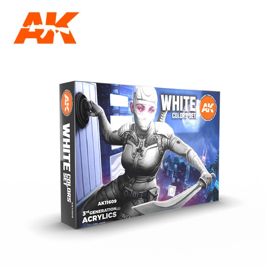 AK-Interactive White Colors Set - AK-Interactive - AK-11609