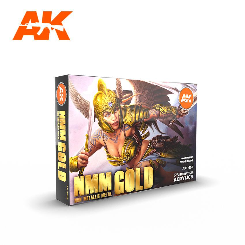 AK-Interactive NMM (Non Metallic Metal) Gold Set - AK-Interactive - AK-11606