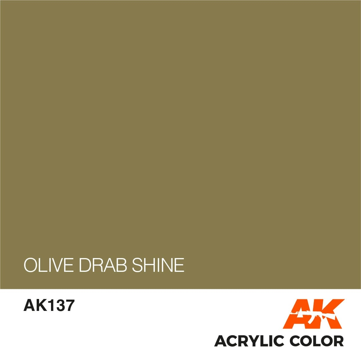 AK-Interactive Olive Drab Shine - 17ml - AK-Interactive - AK-137
