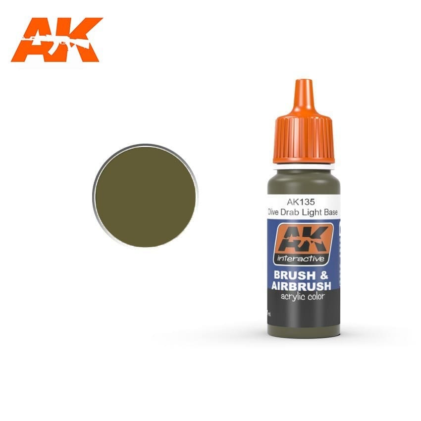 AK-Interactive Olive Drab Light Base - 17ml - AK-Interactive - AK-135