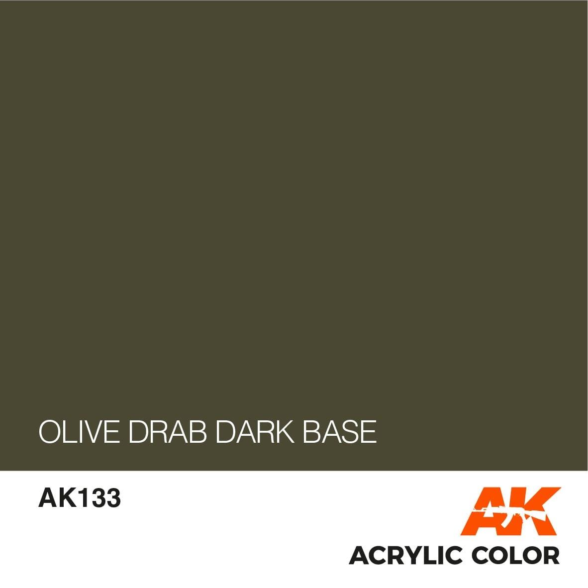 AK-Interactive Olive Drab Dark Base - 17ml - AK-Interactive - AK-133