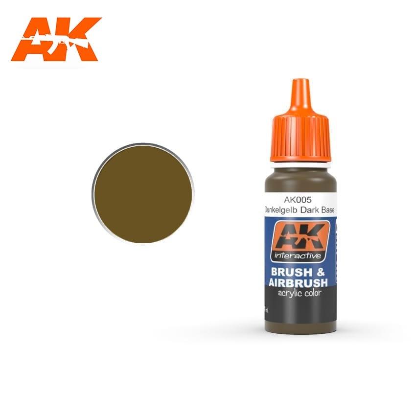 AK-Interactive Dunkelgelb Dark Base - 17ml - AK-Interactive - AK-005