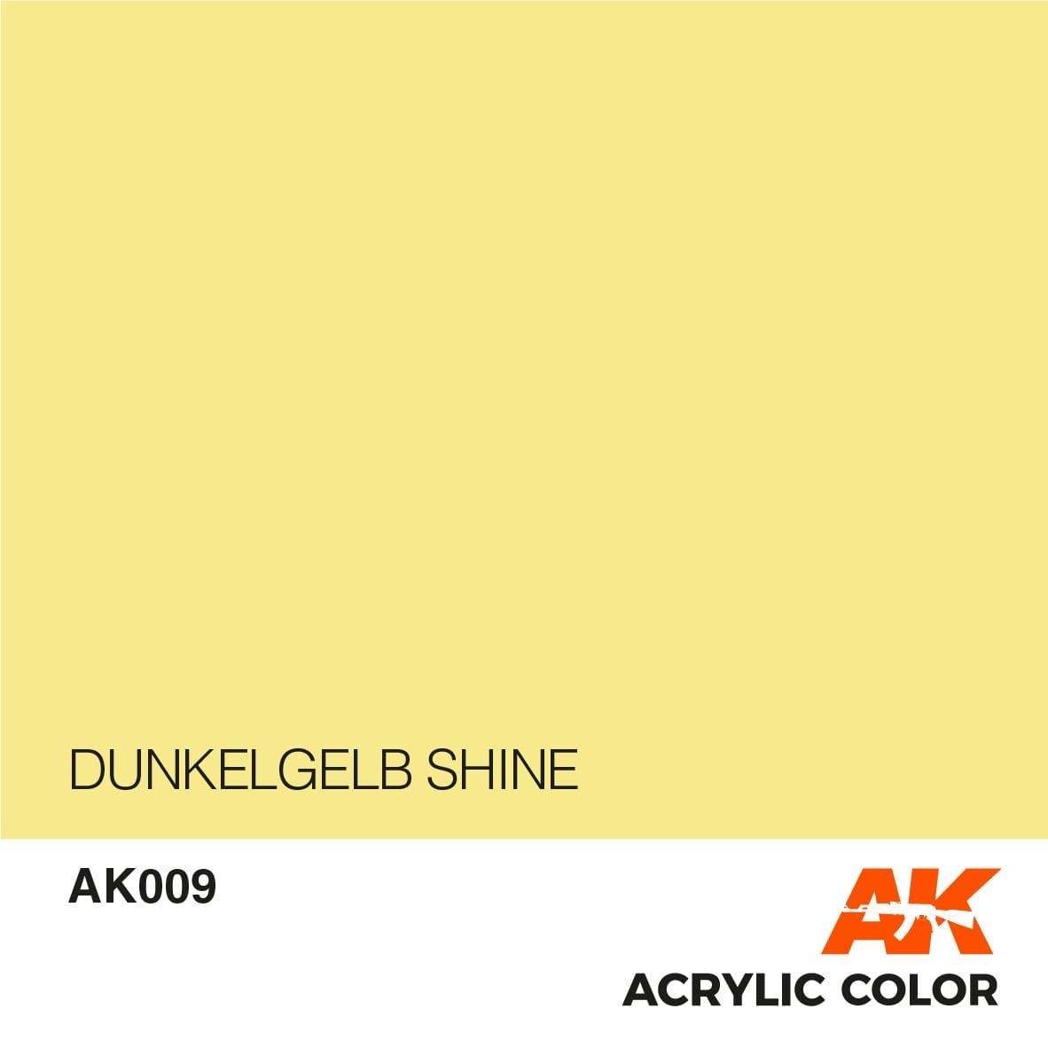 AK-Interactive Dunkelgelb Shine - 17ml - AK-Interactive - AK-009