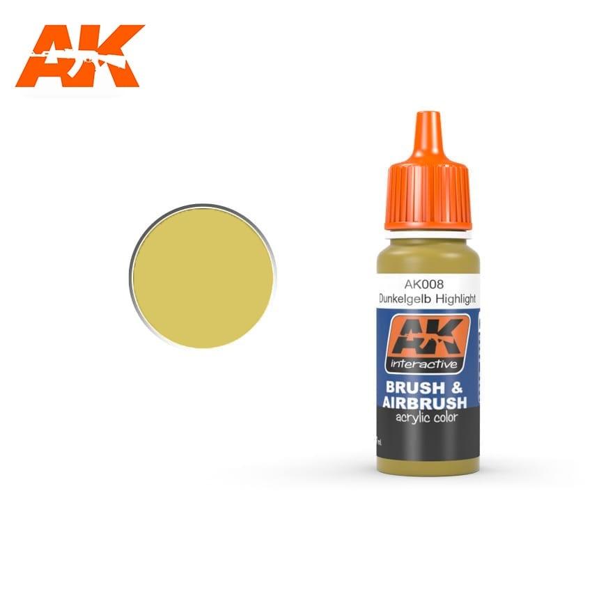 AK-Interactive Dunkelgelb High Lights - 17ml - AK-Interactive - AK-008