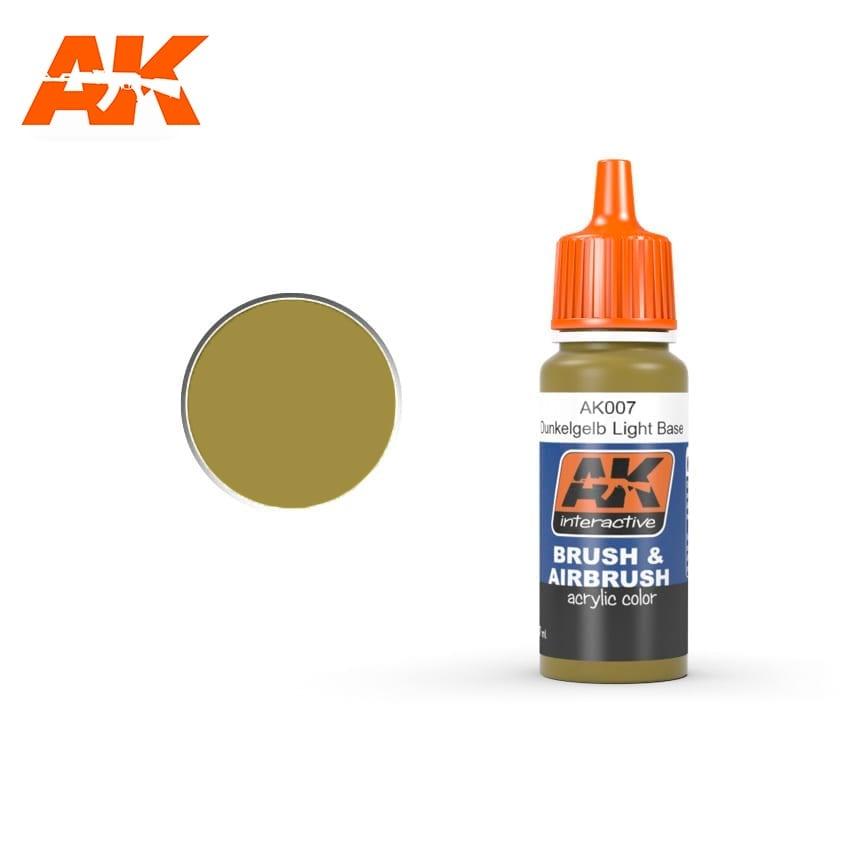 AK-Interactive Dunkelgelb Light Base - 17ml - AK-Interactive - AK-007