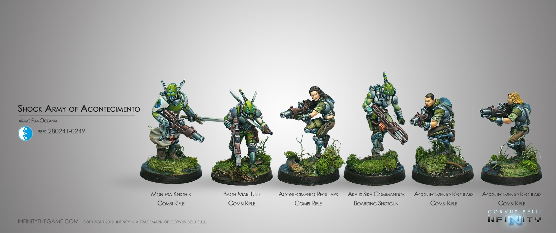 Infinity Shock Army of Acontecimento (PanOceania Sectorial Starter Pack) - Infinity - CVB 280241-0249