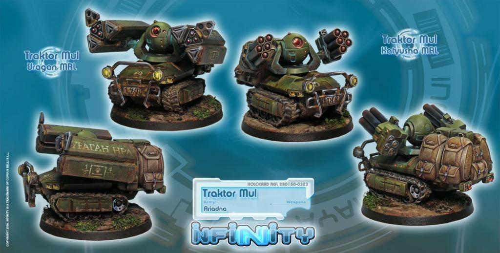 Infinity Traktor Muls. Regiment of Artillery and Support - Infinity - CVB 280150-0323