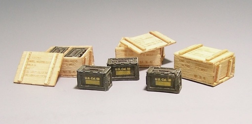 Plus Model U.S. Ammo Boxes - Vietnam - Scale 1/35 - Plusmodel - PLL 420
