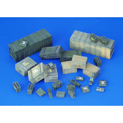 Ammunition Transportational Containers, Allies - WW II - Scale 1/35 - Plusmodel - PLL 118