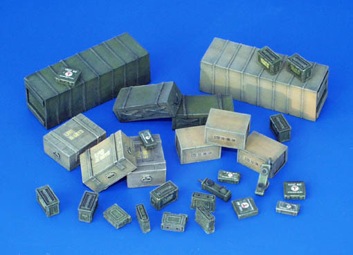 Plus Model Ammunition Transportational Containers, Allies - WW II - Scale 1/35 - Plusmodel - PLL 118