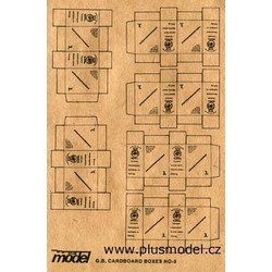 G.B. Cardboard Boxes - Scale 1/35 - Plusmodel - PLL 13