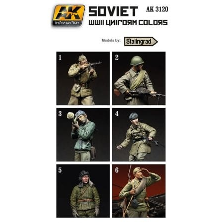 AK-Interactive Soviet WWII Uniform Colors - AK-3120
