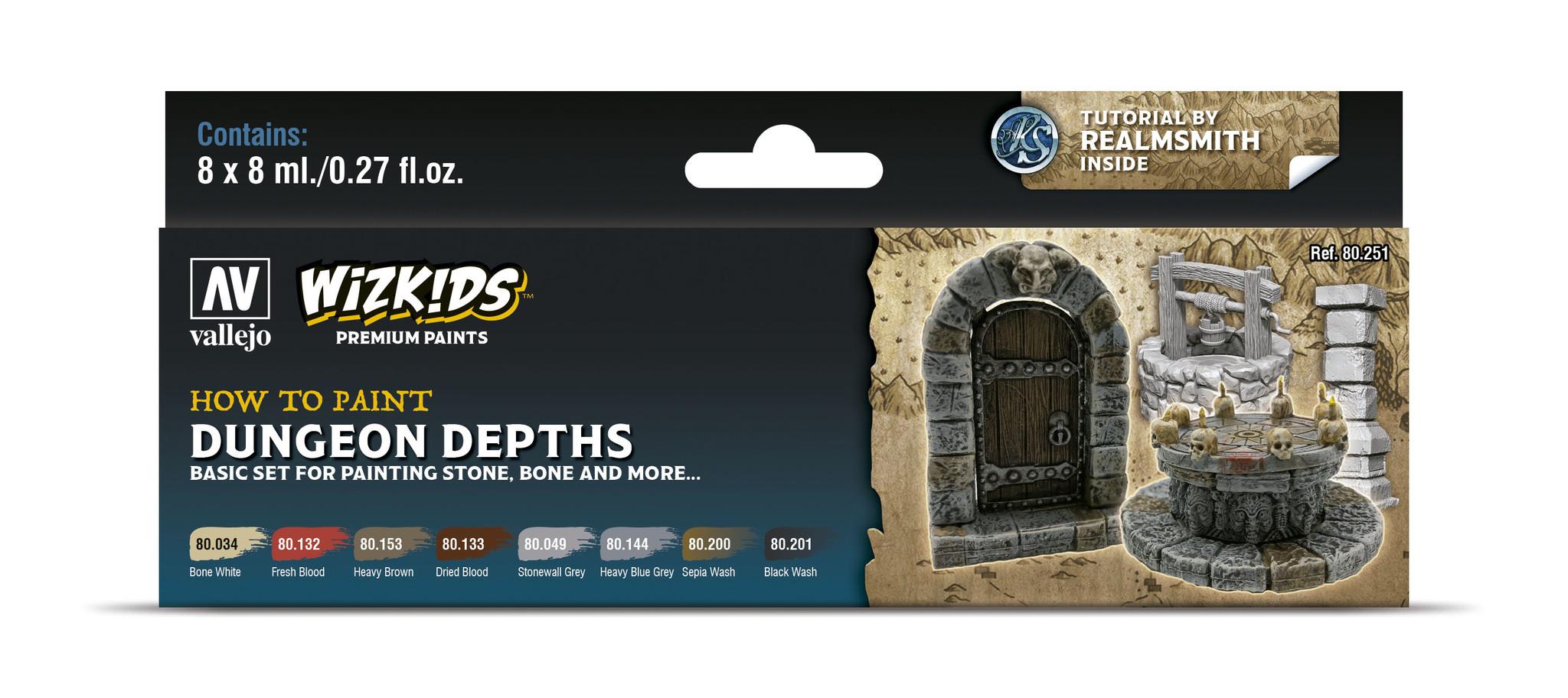Vallejo Wizkids set: Dungeon Dephts - 8 x 8ml - Vallejo - VAL-80251