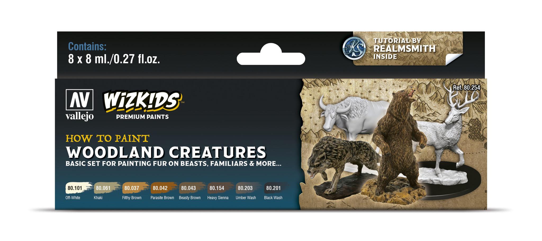 Vallejo Wizkids set: Woodland creatures - 8 x 8ml - Vallejo - VAL-80254