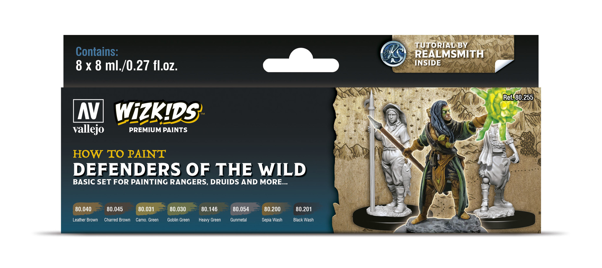 Vallejo Wizkids set: Defenders of the Wild - 8 x 8ml - Vallejo - VAL-80255